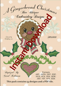 A Gingerbread ChristmasInstant Download - Product Image