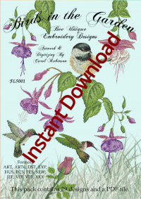 Birds in the GardenInstant Download - Product Image