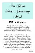No Show Shear Cutaway Mesh Stabilizer - Product Image
