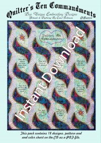 Quilters 10 CommandmentsInstant Download - Product Image